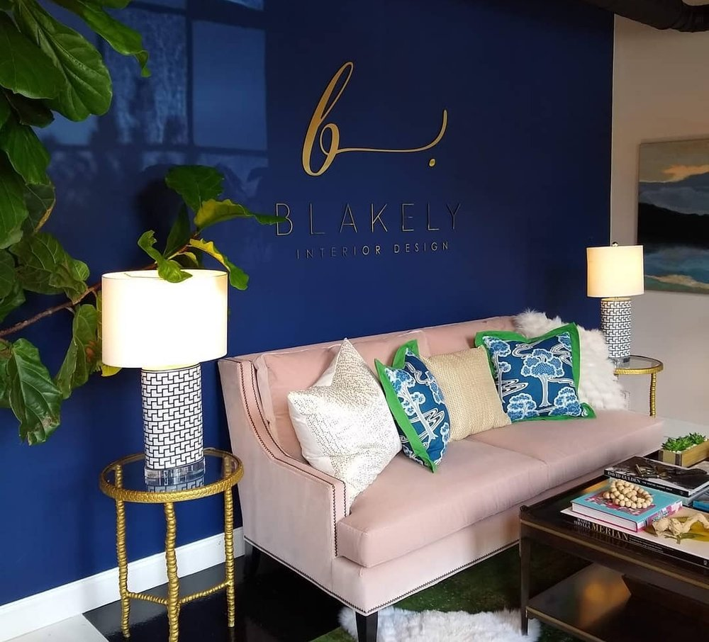 Blakely Interior Design fittingly designed their own studio, which was such a joy to visit! Full of natural light and pops of color… any designer would get inspired.