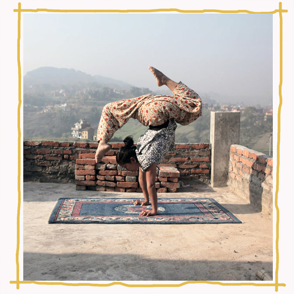 Survivor of trafficking in Nepal practicing routines for Circus Khatmandu  Image:  Satya Films