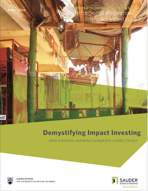 Demystifying Impact Investing
