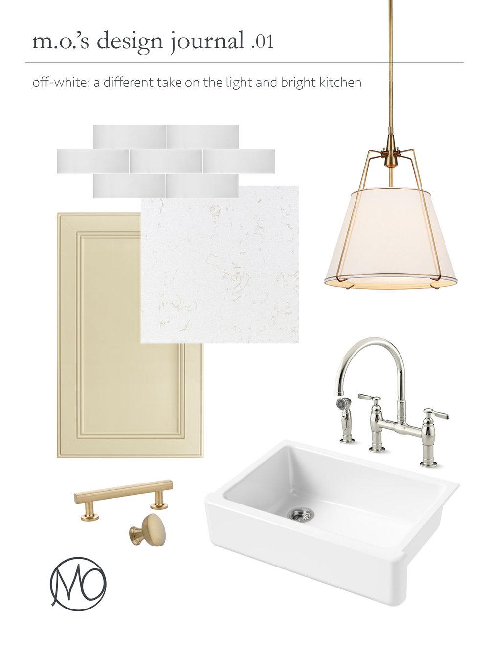 m.o.\'s design journal: an off-white kitchen — Madelyn Oliver