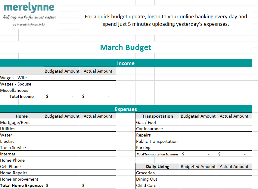 Get Your Budget Spreadsheet  - I'm sharing the exact budget template my family uses, this tool has helped our family pay off over $38,000 worth of debt while still living a life we enjoy.  I know it can help you!