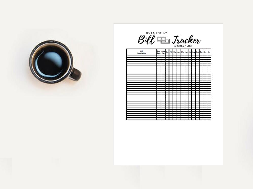 printable bill tracker meredith rines cfp budget expert