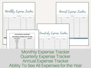 excel monthly quarterly and annual expense tracker meredith