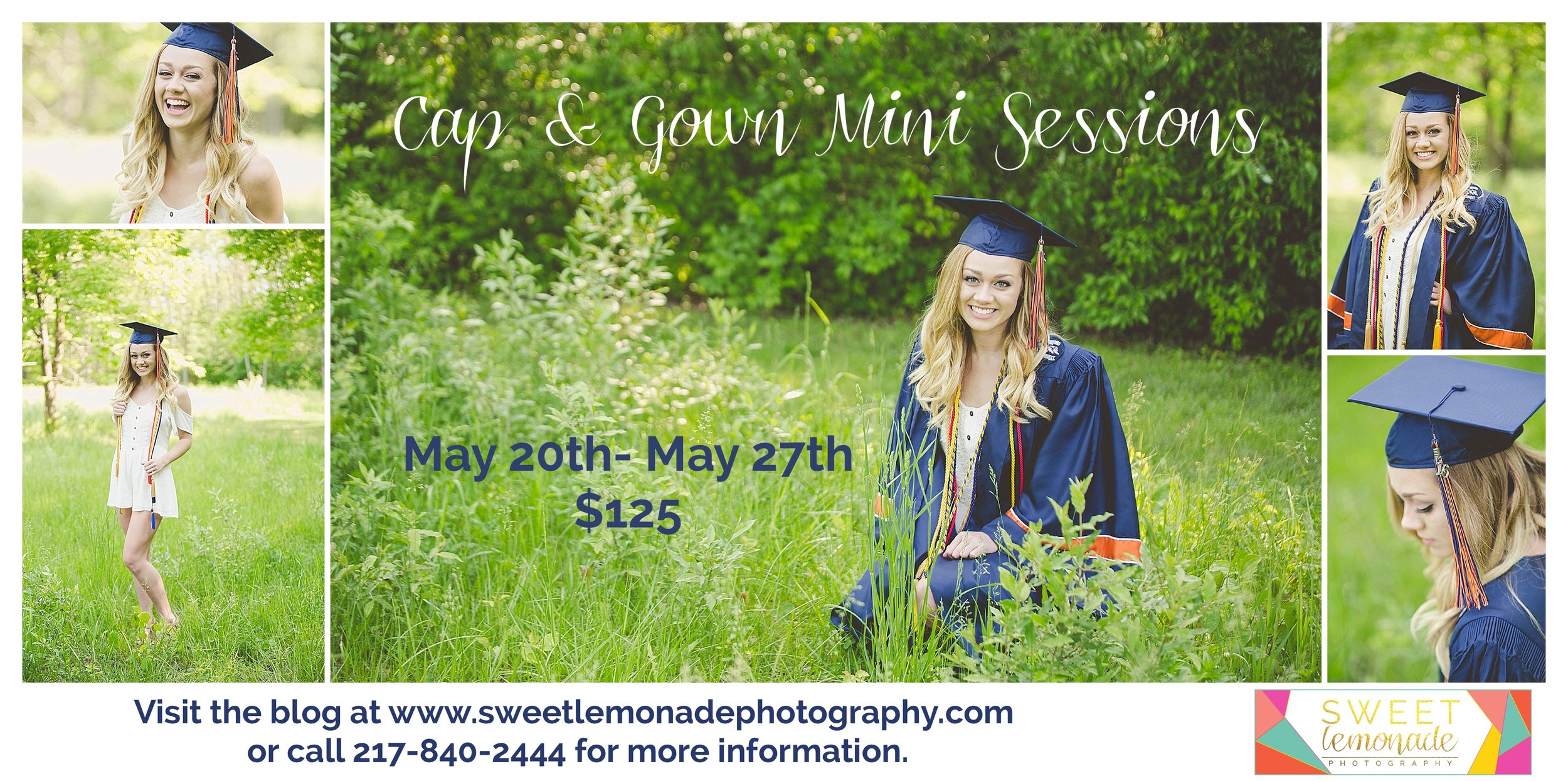 Sweet Lemonade Photography Cap and Gown Graduation Mahomet, IL  Champaign, IL Photographer