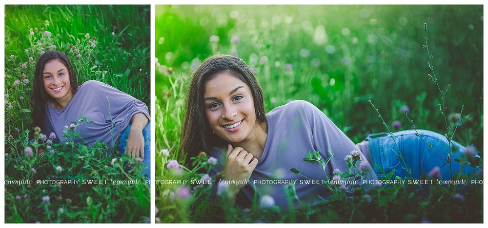 Senior picture purple top country nature