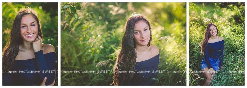 Senior picture girl woods country nature golden hour