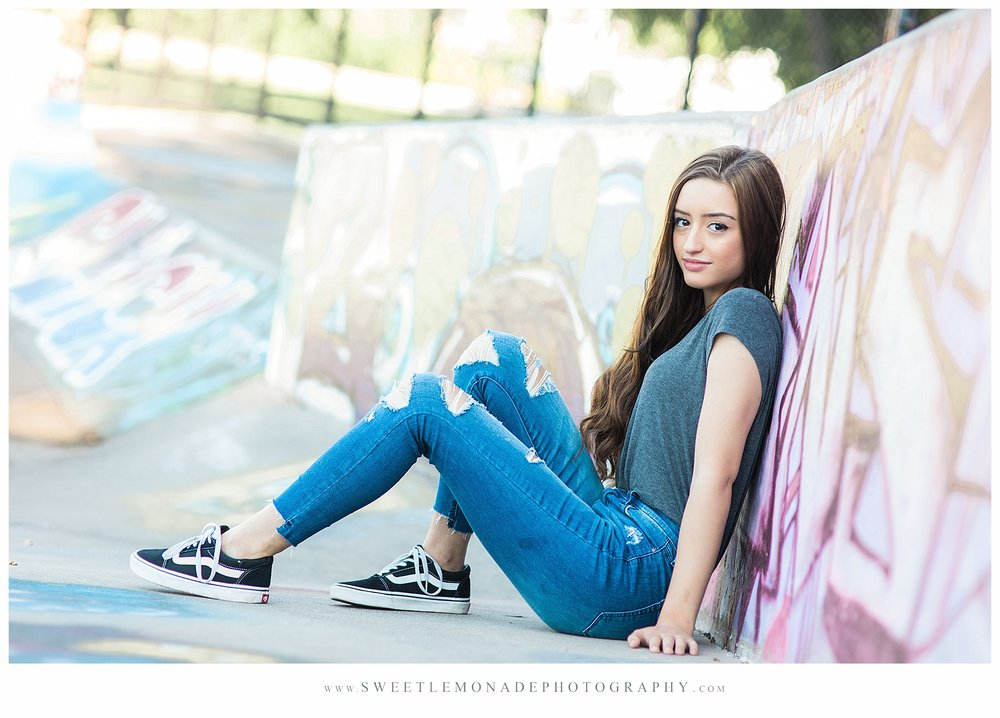 Skater Girl - Senior Portraits with personality