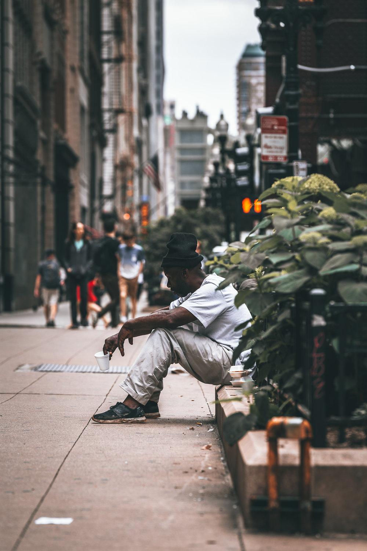 Chicago Homeless (Pan Handler).JPG