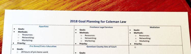 Goal Planning For Lawyers  Coleman Law