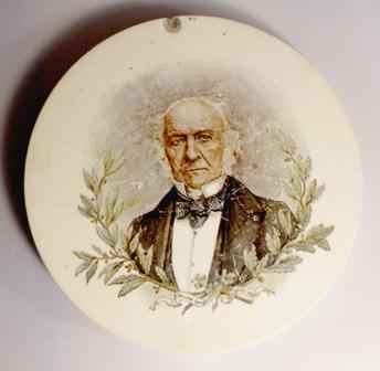 William Gladstone memorial plate. (1890s) -