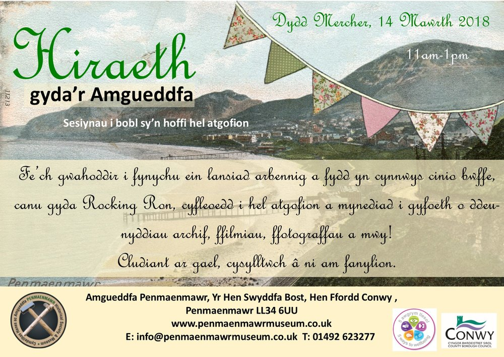 Hiraeth with the Museum 14 March 2018 Poster (Welsh).jpg