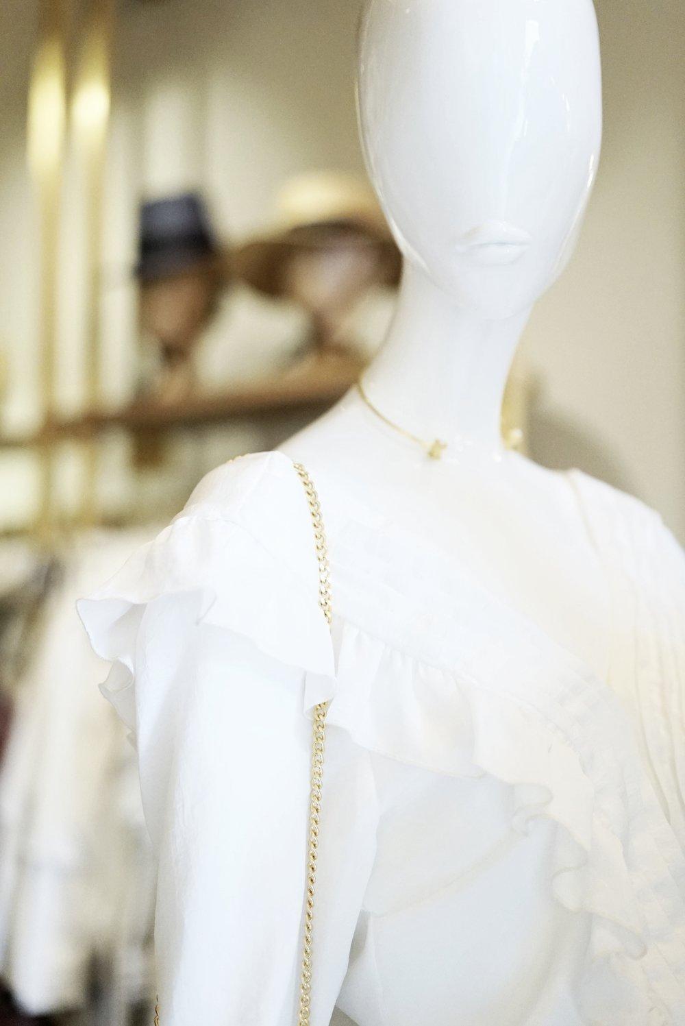 Importados de Holanda, los distintivos maniquíes son característicos de la tienda.