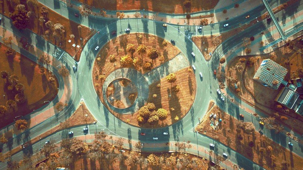 Una rotonda cerca del Museo de los Niños. Foto de Camilo Monzón Navas.