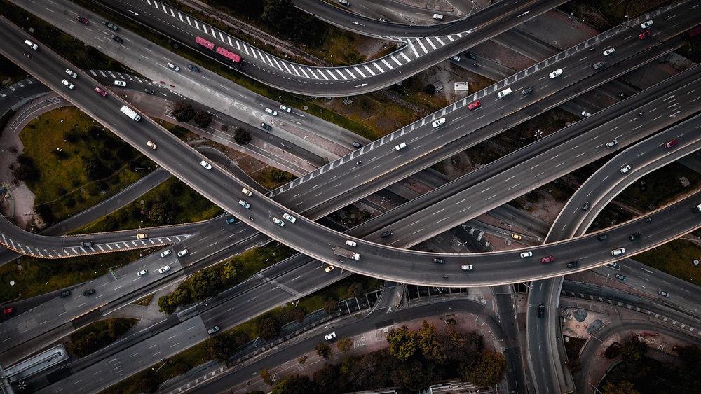 Una vista aérea de la Diagonal 92 con NQS en Bogotá. Foto de Camilo Monzón Navas.