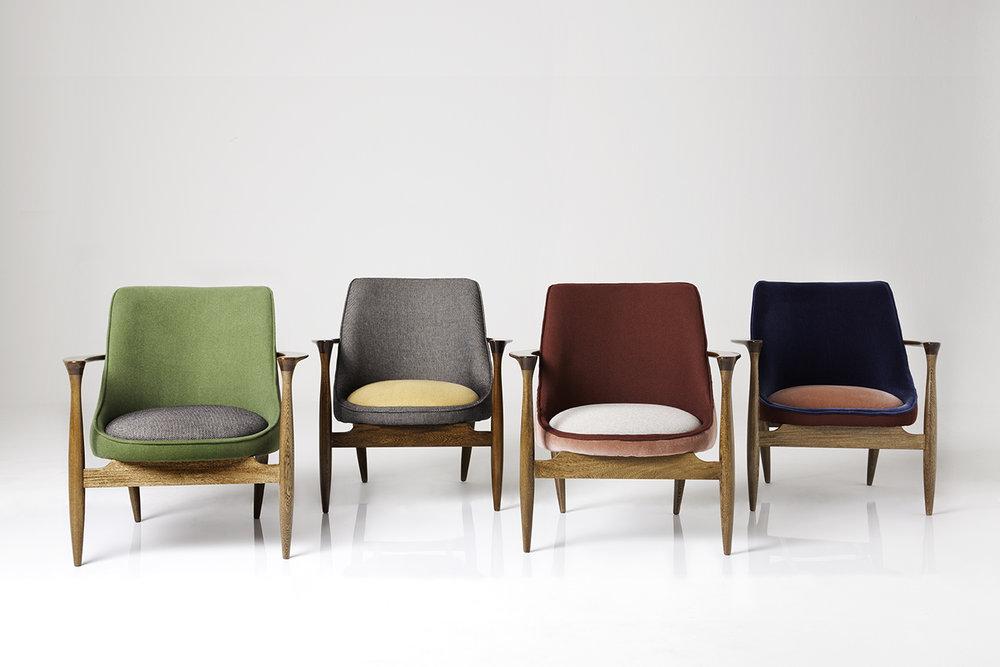 La emblemática Silla Olivia de Folies, basada en una silla  vintage  que el dúo encontró en un anticuario en su ciudad natal de Manizales.