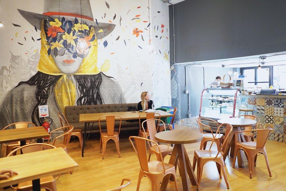 Selina Medellin's lobby and café.