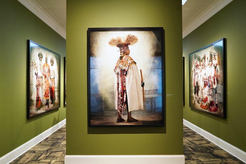 La exhibición de  Alta Moda en el MATE.