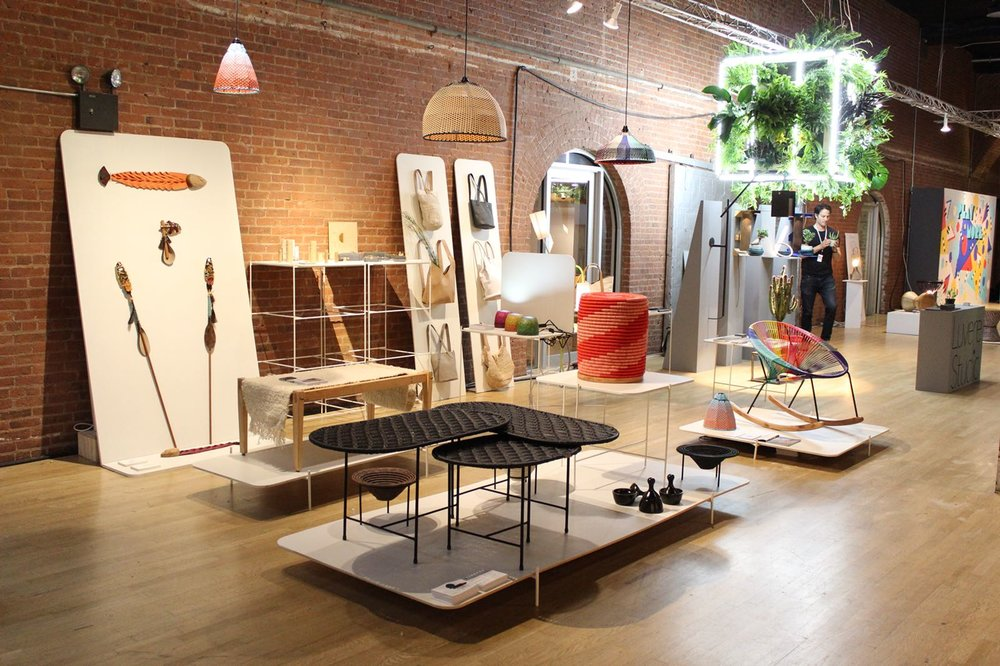The MayDay Exhibition inside Terminal Stores at the NYCxDesign WantedDesign show.