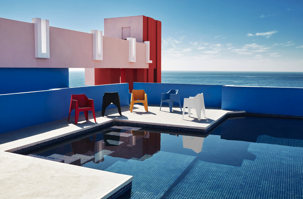 La silla Voxel, diseñada por Karim Rashid.