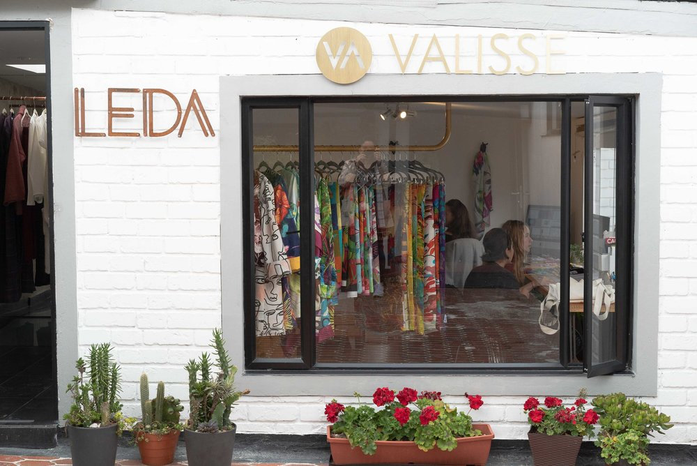 The  Leda  and  Valisse  atelier and showroom on the second floor of Casa Santamaria.