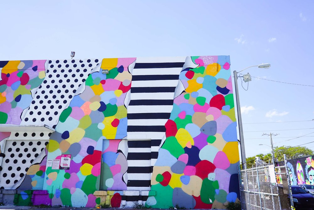 Graffiti murals in the Wynwood district by Boho Hunter, our number two.