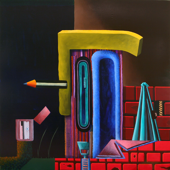 Arcade Arcade Machine, 2010 Acrylic and oil on linen. 190x190 cm