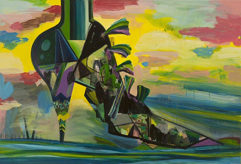 Shoe, 2015 Acrylic on linen. 200x135cm