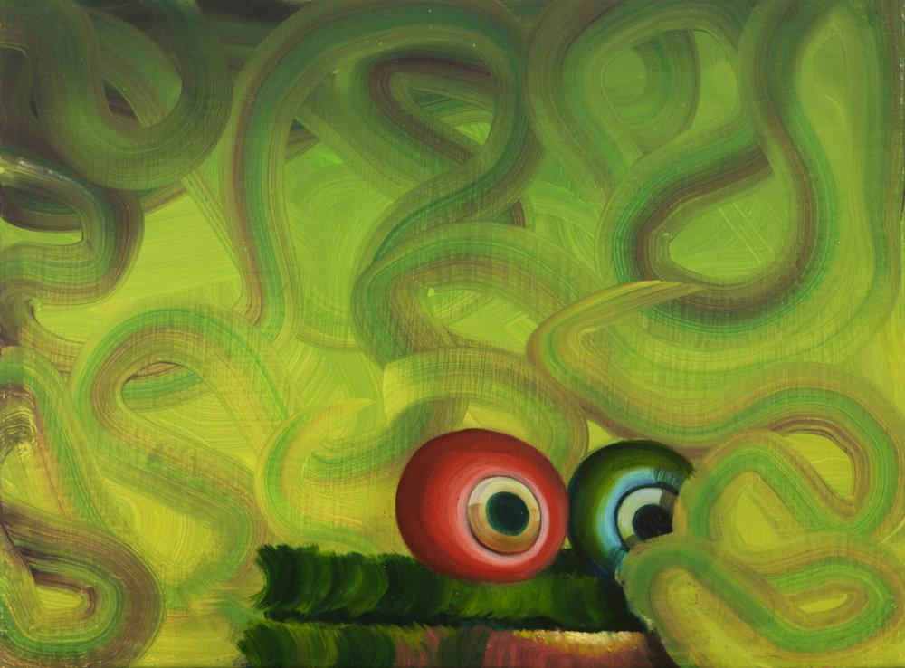 Ouch!, 2015 Acrylic on linen. 30x40,5cm