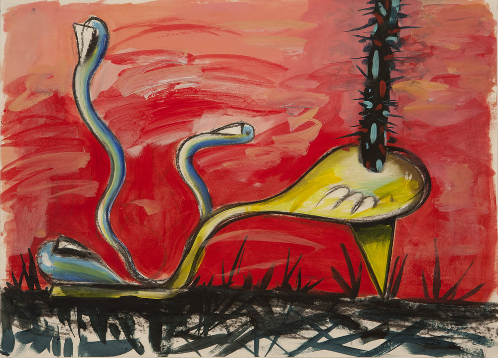 Sick Feet Attentive, 2015 Mixed Media on Paper. 50x70cm