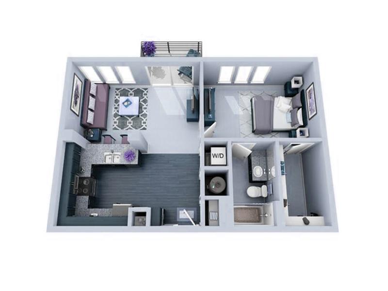 Ilustração 3D do escritório-base