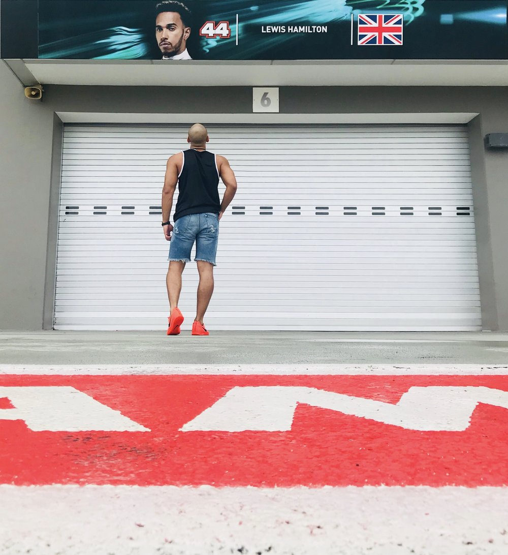 Lewis Hamilton Pit Garage - Singapore Grand Prix -