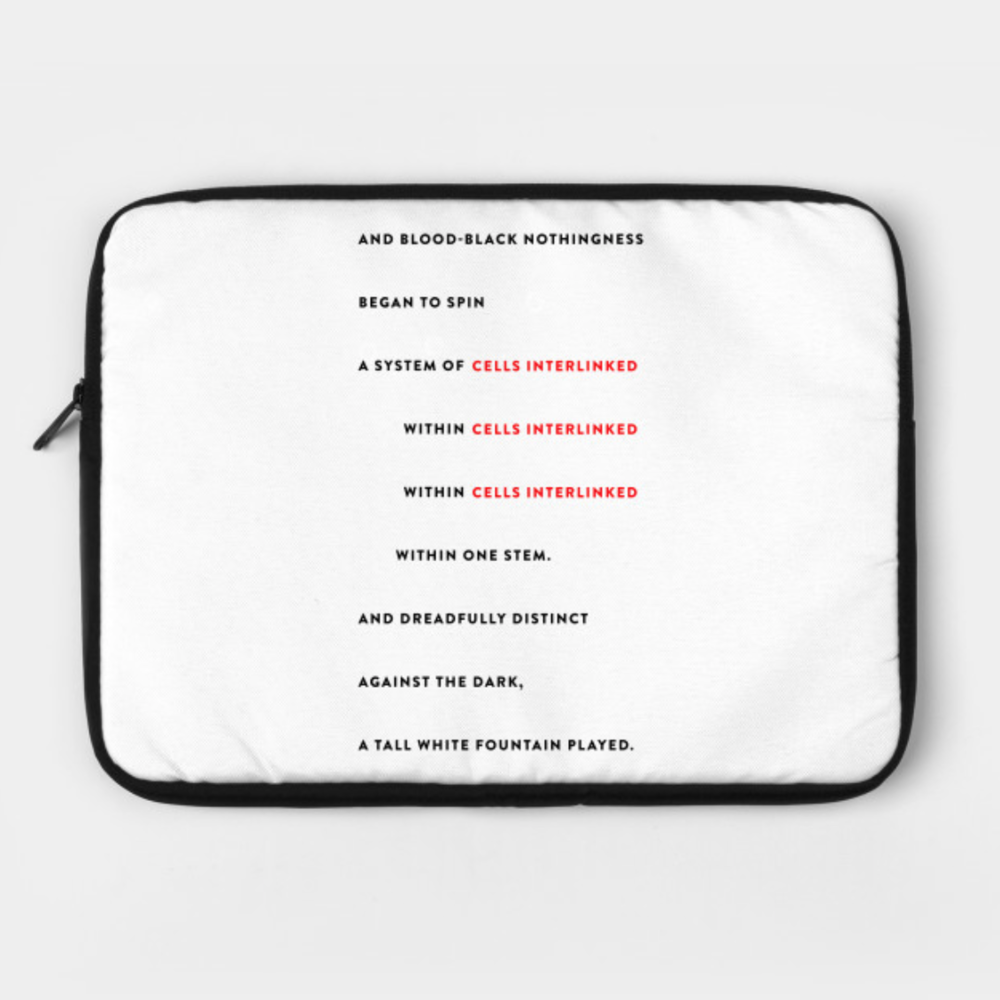INTERLINKED LAPTOP CASE: $36/$30.60 Patrons