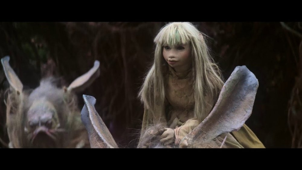 Kira atop a Landstrider. The Dark Crystal 1982.