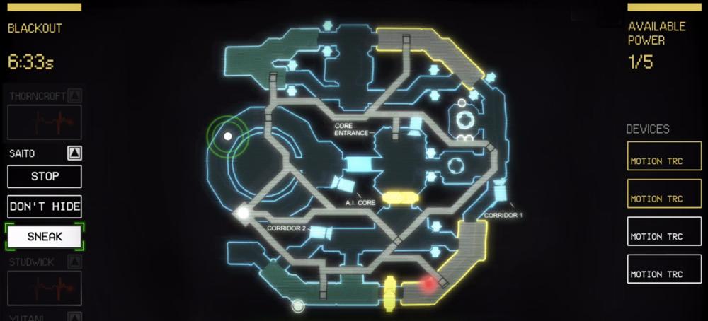 The control layout in Alien: Blackout