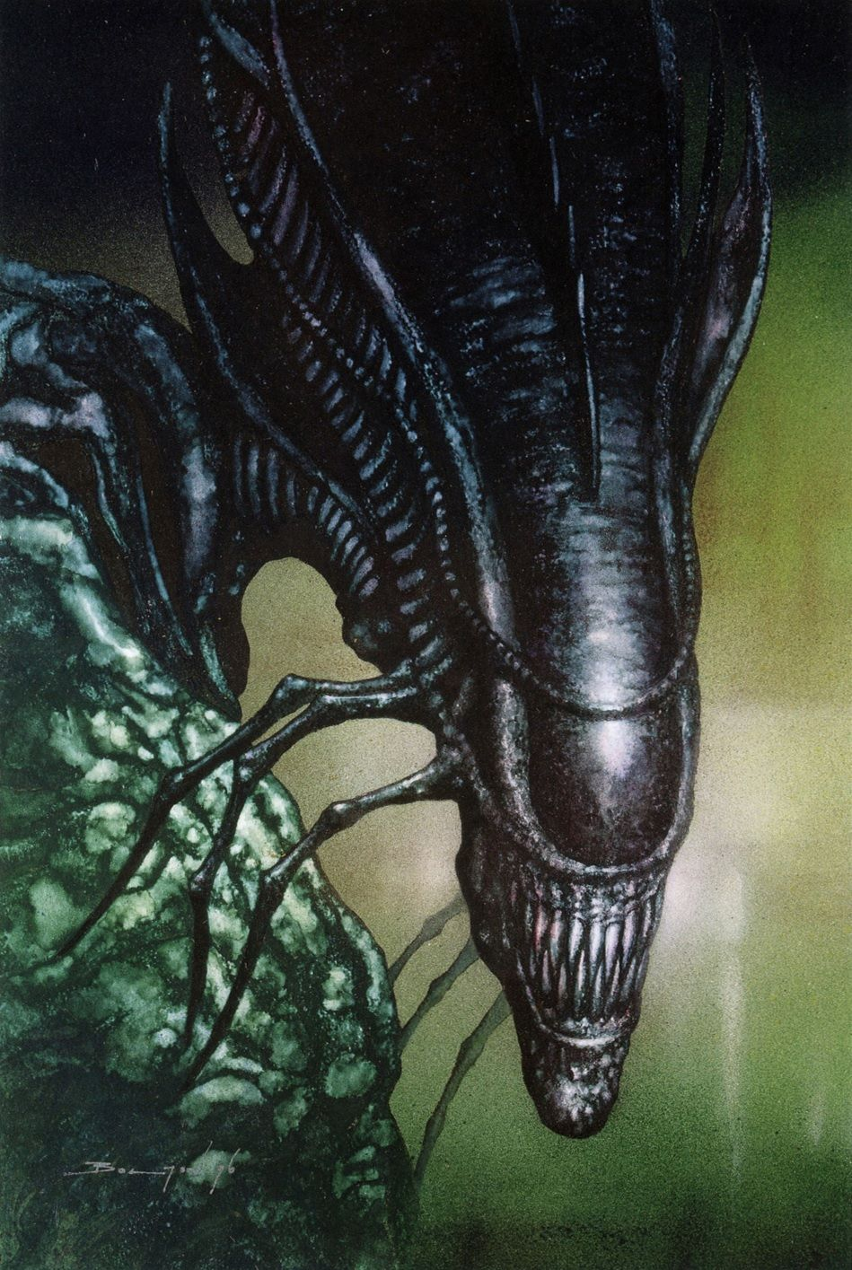 The Queen Mother, as seen in  Aliens: The Female War  (originally  Aliens: Earth War ). Art by John Bolton.