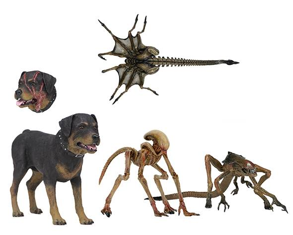 Spike the Dog (with replaceable head) A Queen Facehugger, The Bambi Burster and A Queen Burster