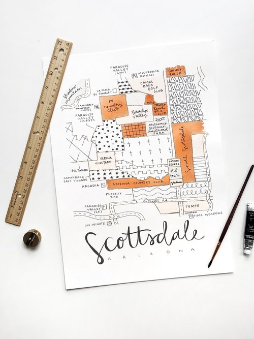 Scottsdale Arizona Neighborhoods Map