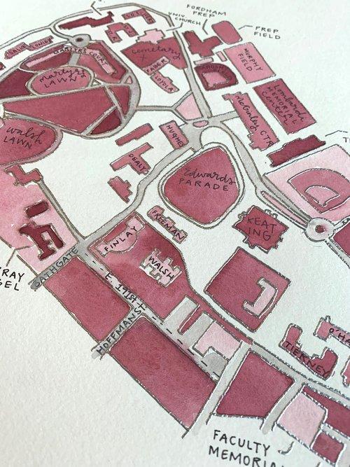 Campus Map Fordham.Fordham University Rose Hill Campus Map