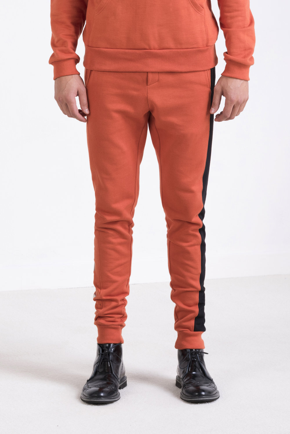 oneculture Alphabet sweatpants orange 2.jpg