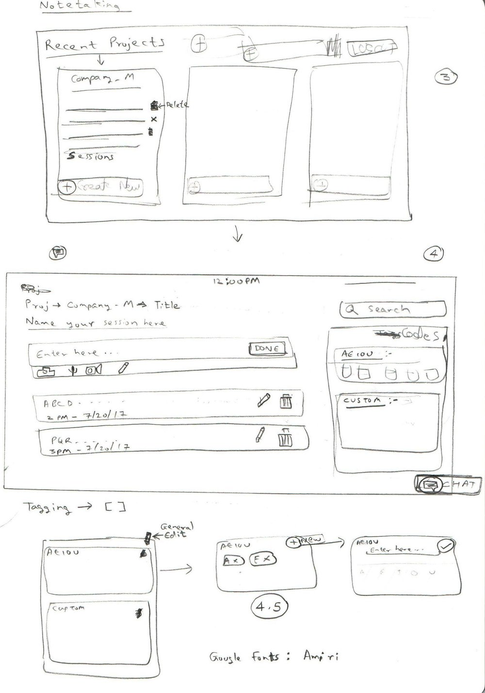 Sketches for the tool (2)