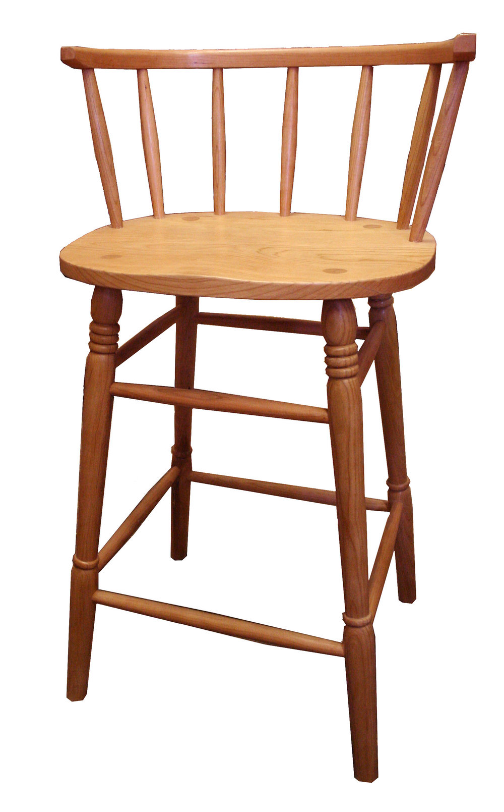 Bar stool in cherry