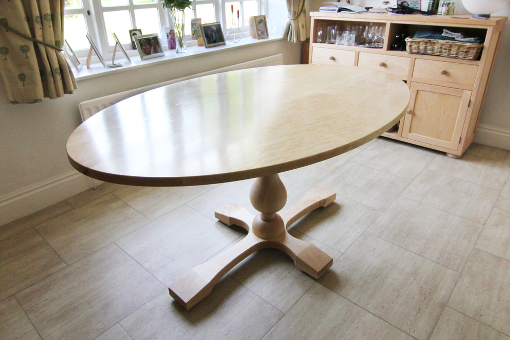 Dining table in maple