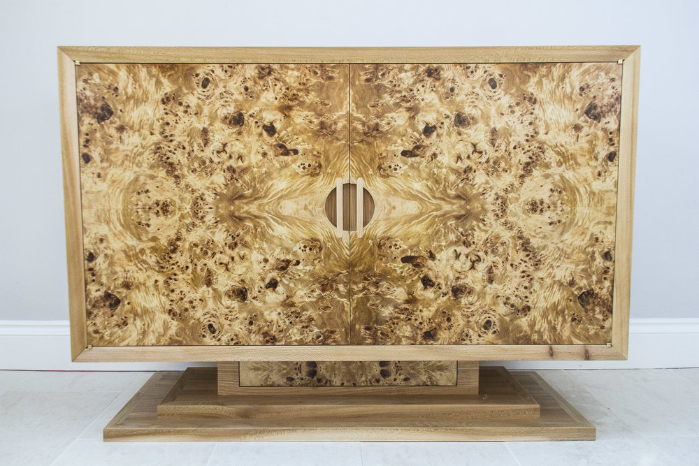 Burr Poplar and Elm Sideboard