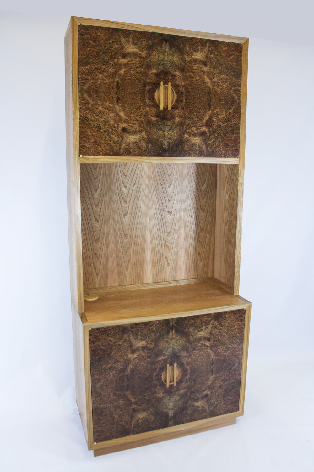 Burr Elm TV Cabinet