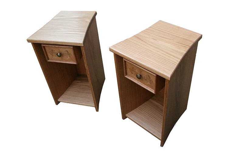 Bed Side Cabinets in Oak and Burr Oak