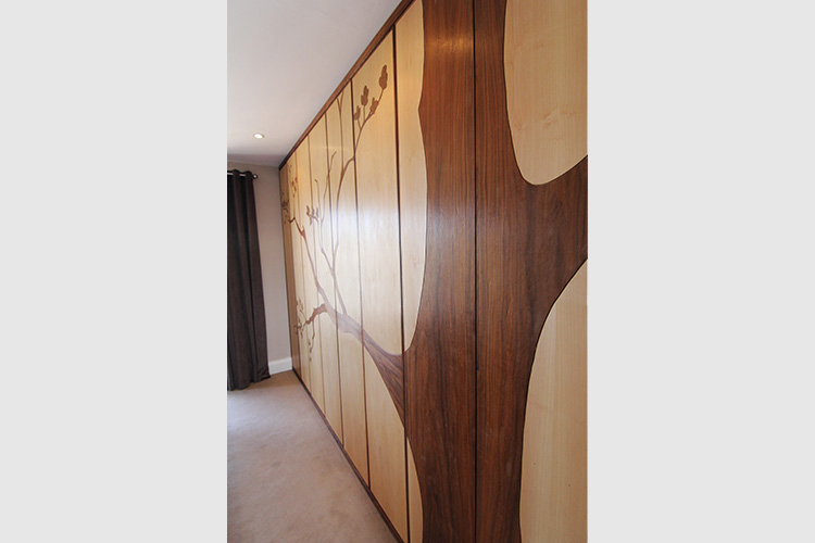 Wardrobe in Walnut and Maple