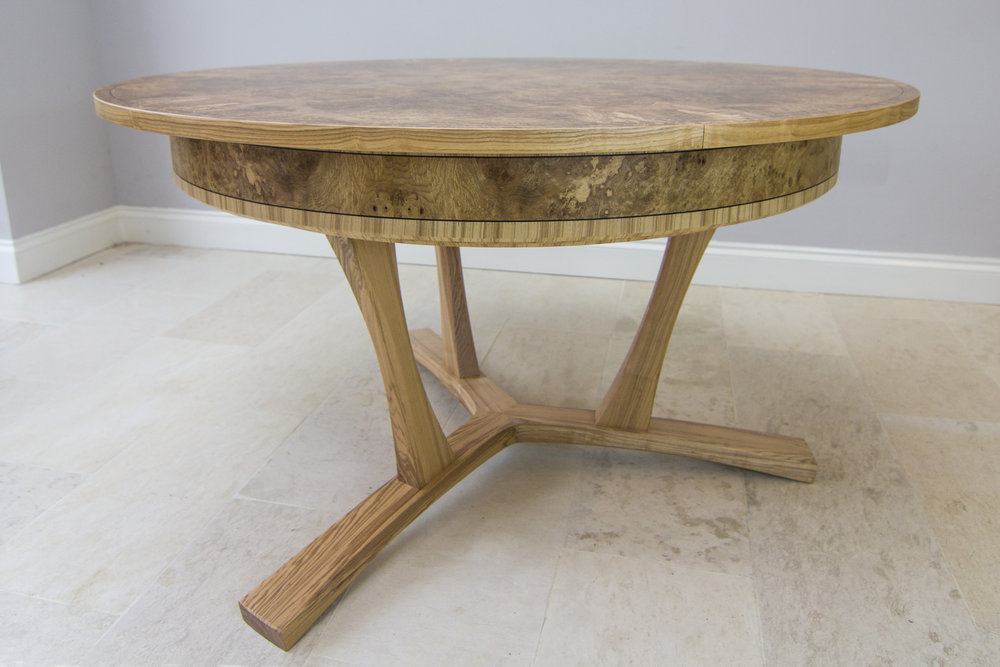 Burr ash expanding dining table 02.jpg