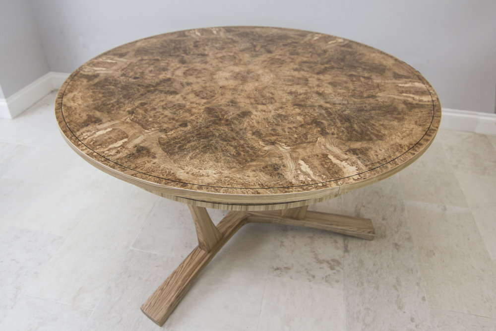 Burr ash expanding dining table 01.jpg