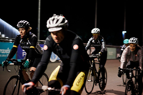Windrush members at Herne Hill Velodrome training session