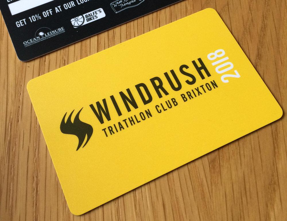 image of Windrush membership card 2018